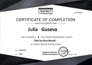 Julia Guseva - Teaching one-to-one - 29.09.2019