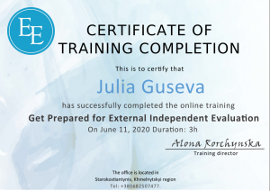 Julia Guseva - ZNO preparation - 11.06.2020